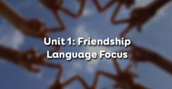 Unit 1: Language Focus – Friendship