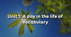 Unit 1: Vocabulary – A day in the life of