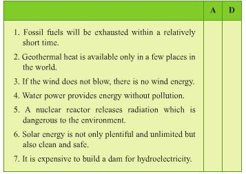 Unit 11: Speaking Sources of energy